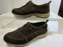EASY SPIRIT  Amore Brown Leather/Textile Moccasins  6.5 M