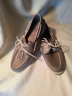 AUTHENTIC SEBAGO DOCKSIDES LEATHER BOAT SHOES METALLIC RED,