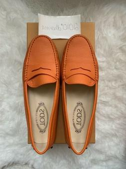 Authentic Women's NIB Tod's Moccasins 37.5 Leather