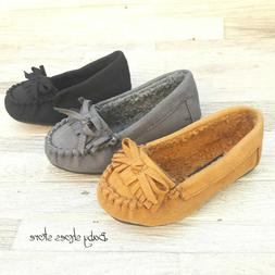 Baby toddler girls warm loafers moccasins shoes size 4,5 NEW