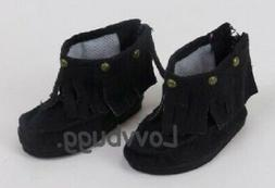 """Black Moccasin Moccasins Boots for 18"""" American Girl Doll Cl"""