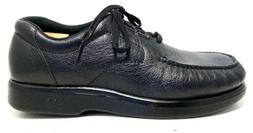 SAS Bout Time Men's Black Leather Lace Up Moccasin Shoe Si