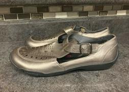 Ros Hommerson Cameo Womens 8 N Bronze Loafers Shoes Buckle
