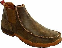 Twisted X Casual Shoes Mens Leather Driving Moccasin Bomber