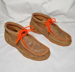Twisted X Chukka Moccasins Bomber/Neon Suede US Size Youth-5