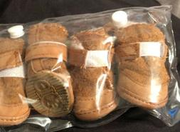 Dog Booties shoes boots Moccasins Style ACL size 1 tan