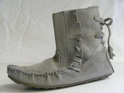 J Crew Sienna Fringed Moccasin Bootie Size 10 Soles Women NI