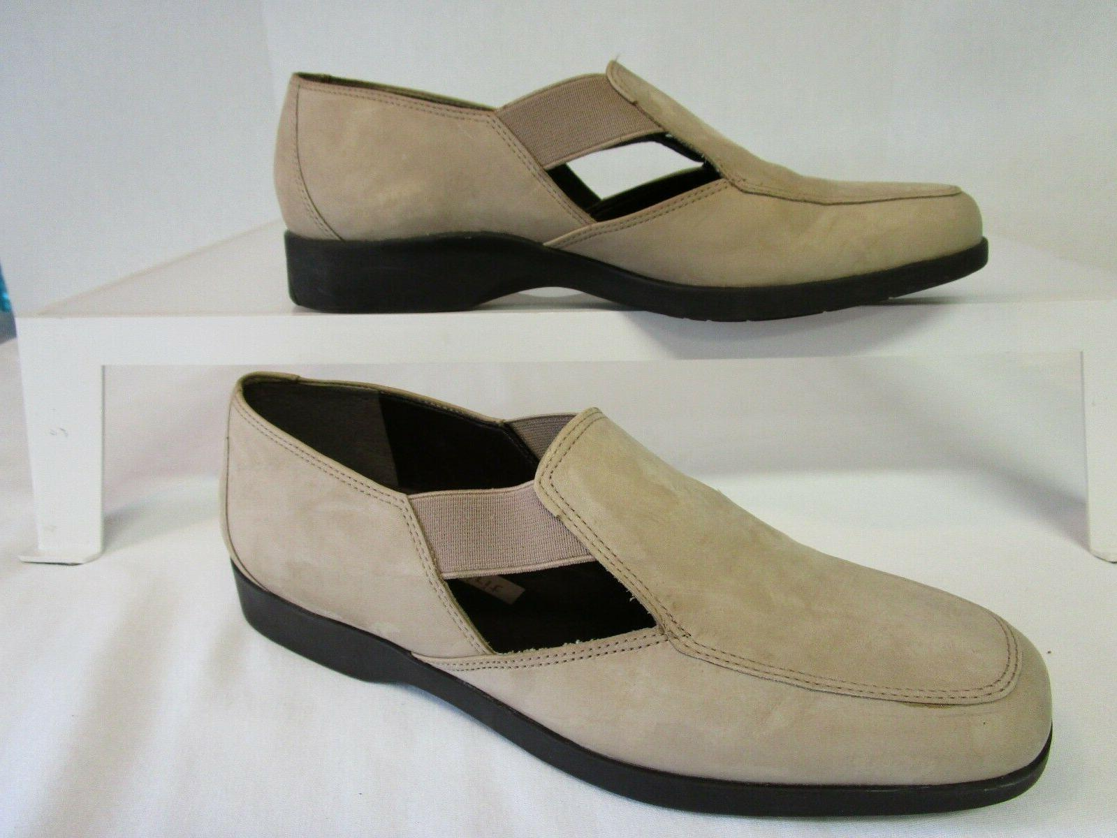 tan leather moccasins 8 5