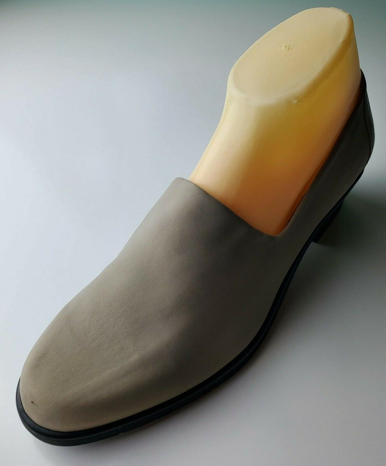 womens beige tan leather closed toe loafers