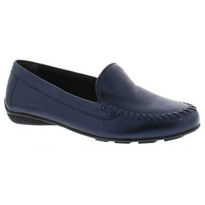 womens mercer navy moccasins shoes 7 5