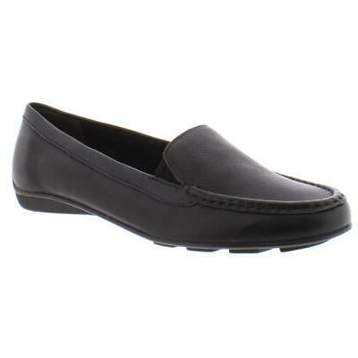 womens mick black leather loafers shoes 7