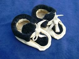 """Leather Doll Bear Shoes Moccasins 3.5"""" Handmade"""