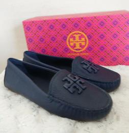 TORY BURCH LOWELL 2 DRIVER Depp Sea Teal TUMBLED LEATHER MOC