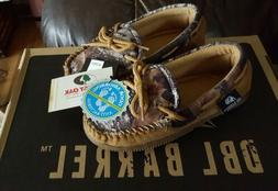 M&F Western Moccasin Slippers Dbl Barrel Youth Kids Size 1/2