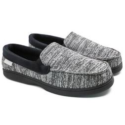Mens Canvas Moccasin Slippers Casual Driving Shoes Slip on H