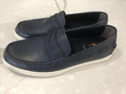 Men's Cole Haan Navy Blue Leather Boat Shoe Loafer Size 8.5M