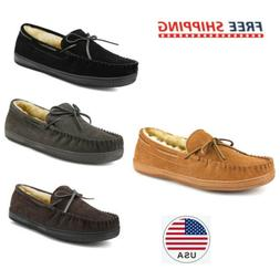 Men's Slippers House Casual Moccasin Warm Line Comfort Loafe