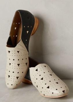 NEW Nina Payne Marlowe Perforated Loafers Size 41 Art Deco F