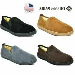 DREAM PAIRS Men's faux fur Warm Slippers Loafers Moccasin Sh
