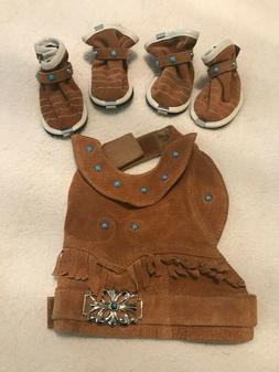 NWOT Vintage Wilsons Leather Brown Suede Indian Style Puppy