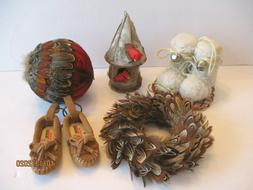 rustic outdoor type ornaments bird house feather