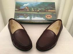 """SAS SHOES  Womens """"Antique Wine"""" Slip-On Fasion Leather Loaf"""