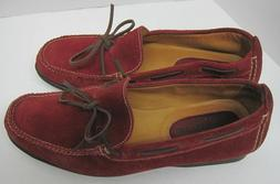 Cole Haan Shoes Women 6.5B Red Country Suede Leather Loafers