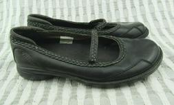 Merrell Tetra Sprite Black Leather Moccasins Mary Janes Shoe