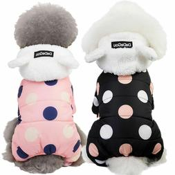 Warm Dotted Hoodie Costume Apparel Dog Puppy Clothes Cat Pet