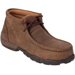 TWISTED X WOMEN'S DISTRESSED SADDLE LEATHER STEEL TOE DRIVIN