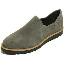 VANELi Womens Jager Gray Suede Slip On Loafers Shoes 7 Wide